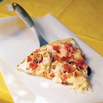 Shrimp Alfredo Pizza