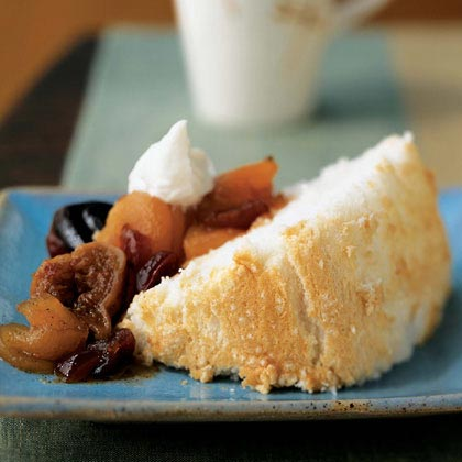 Angel Food Cake with Fall Fruit Compote