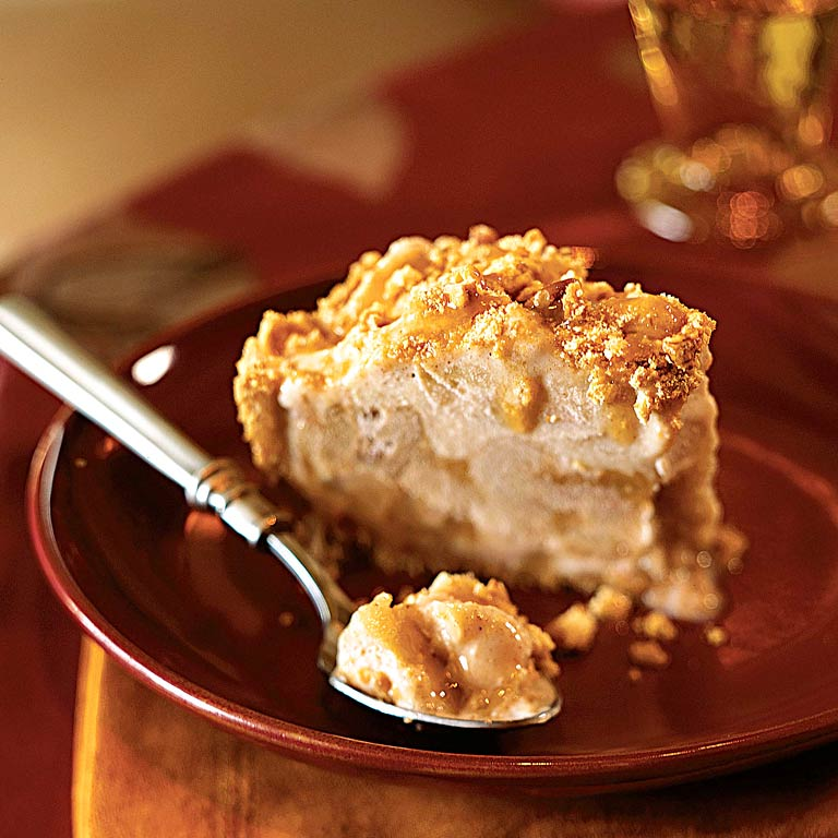 Why top your pie with ice cream when you can layer melty frozen yogurt into the apples, cinnamon, and caramel syrup? Make this dreamy combo yours tonight.Apple and Ice Cream Pie Recipe