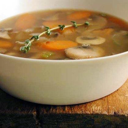 Barley-Mushroom SoupRecipe