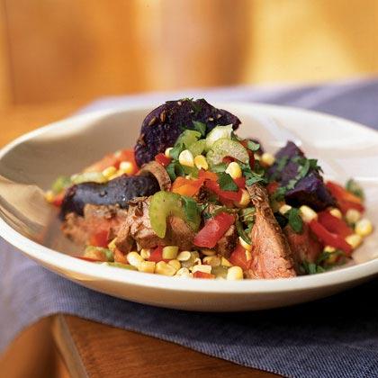 Chilean Beef and Purple Potato Salad