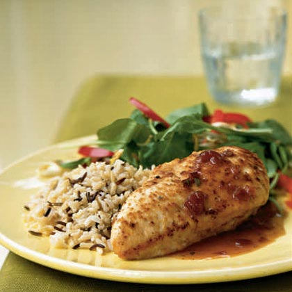 Chicken with Cranberry-Port Sauce