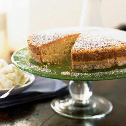 Coconut Butter Cake with Ginger Ice Milk Recipe