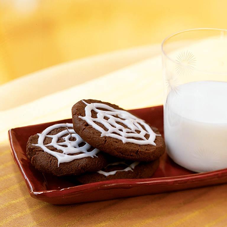 Chocolate Spiderweb Cookies Recipe