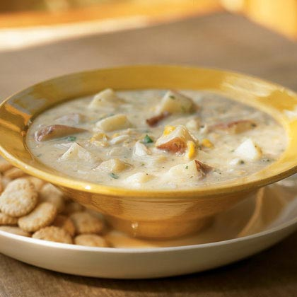 Chunky Potato-Crab Chowder Recipe