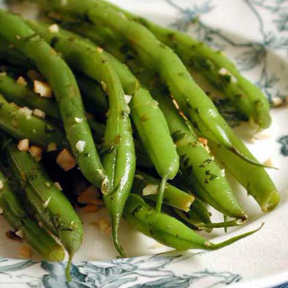 Green Beans with Toasted Almond Gremolata Recipe