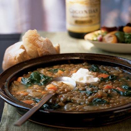 Lentil Soup with Chard