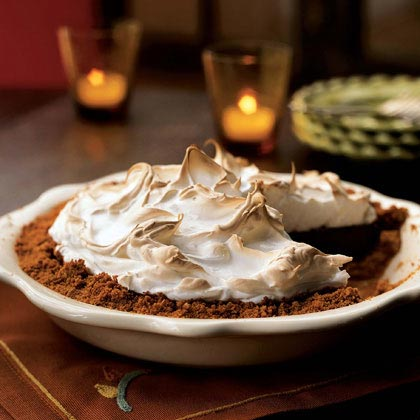 Chocolate-Walnut Meringue Pie Recipe