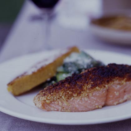 Pine Nut-crusted Pacific Salmon