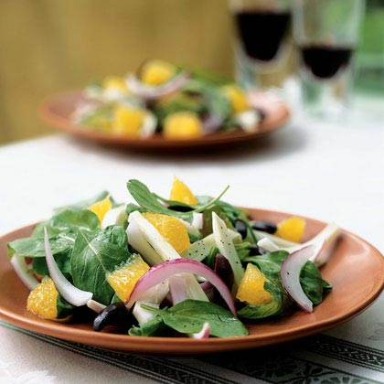Orange, Arugula, and Kalamata Olive Salad