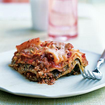 Pesto Lasagna with Spinach and MushroomsRecipe