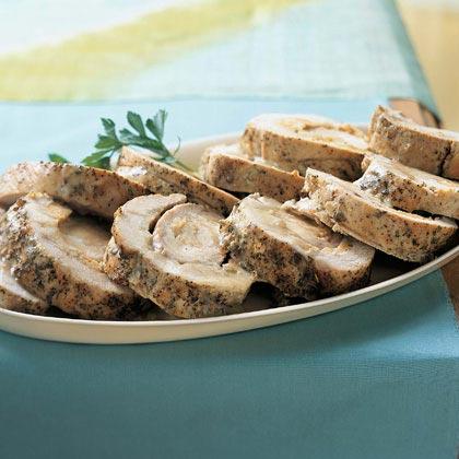 Apple and Corn Bread-Stuffed Pork Loin