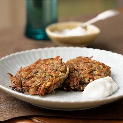 Parsnip-Potato Latkes with Horseradish Cream Recipe