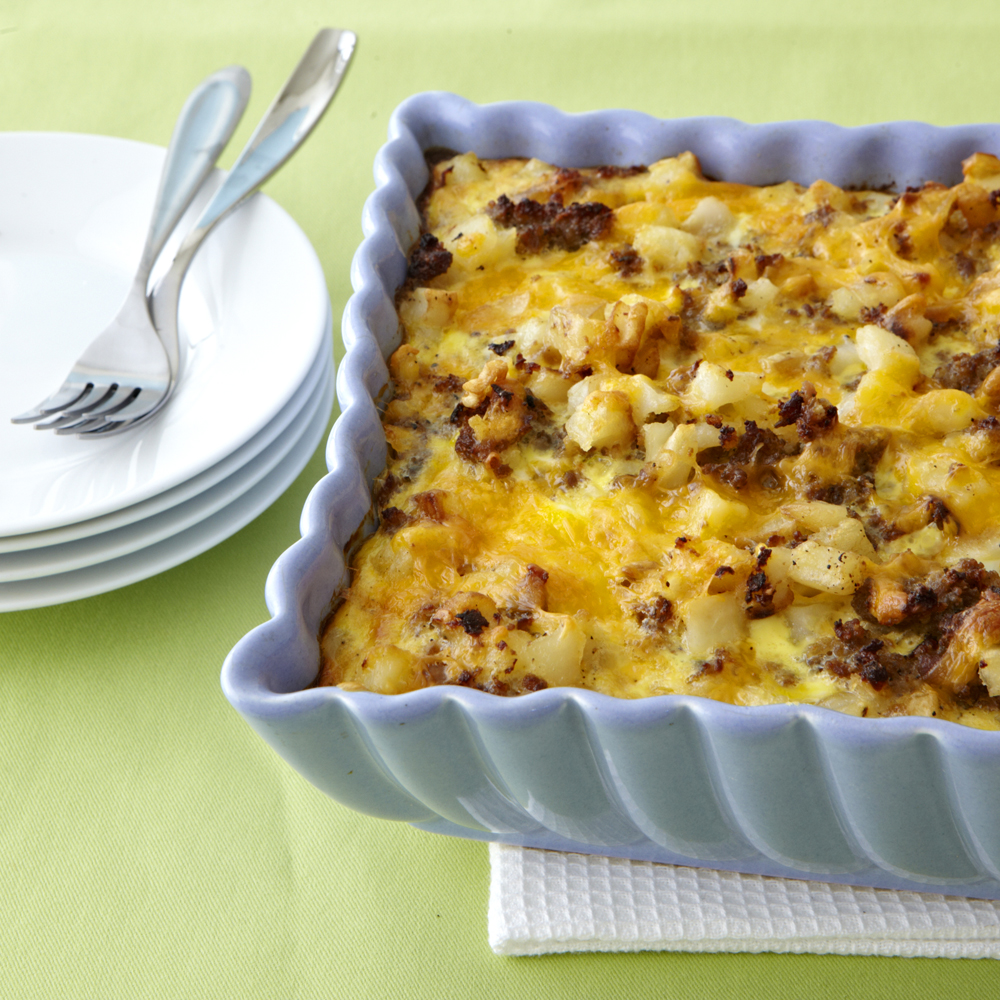 Sausage-Hash Brown Breakfast Casserole
