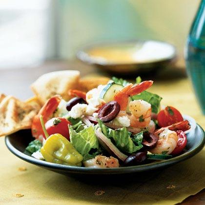 Greek Salad with Shrimp Recipe