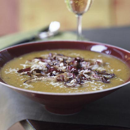 Butternut Squash Soup with Seared Radicchio