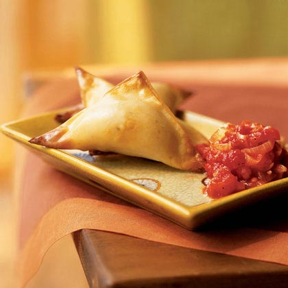 Crispy Butternut Wontons with Spicy Tomato Sauce Recipe