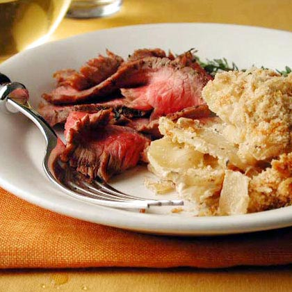 Spiced Beef with Onion and Allspice Gratin Recipe