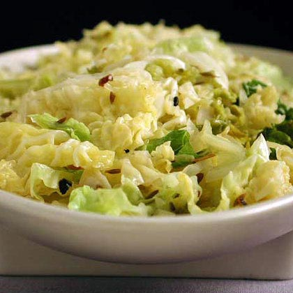Wilted Cabbage with Toasted Cumin Recipe