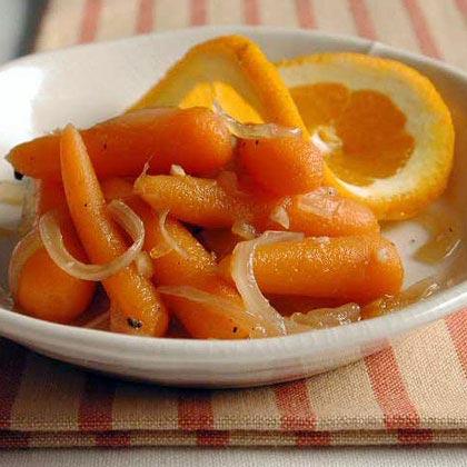 Orange-Glazed Carrots and Onions