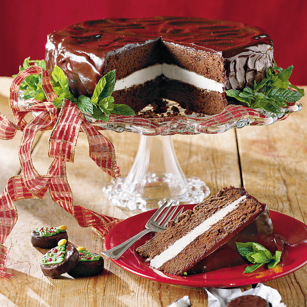 Chocolate-Mint Cake Recipe | MyRecipes