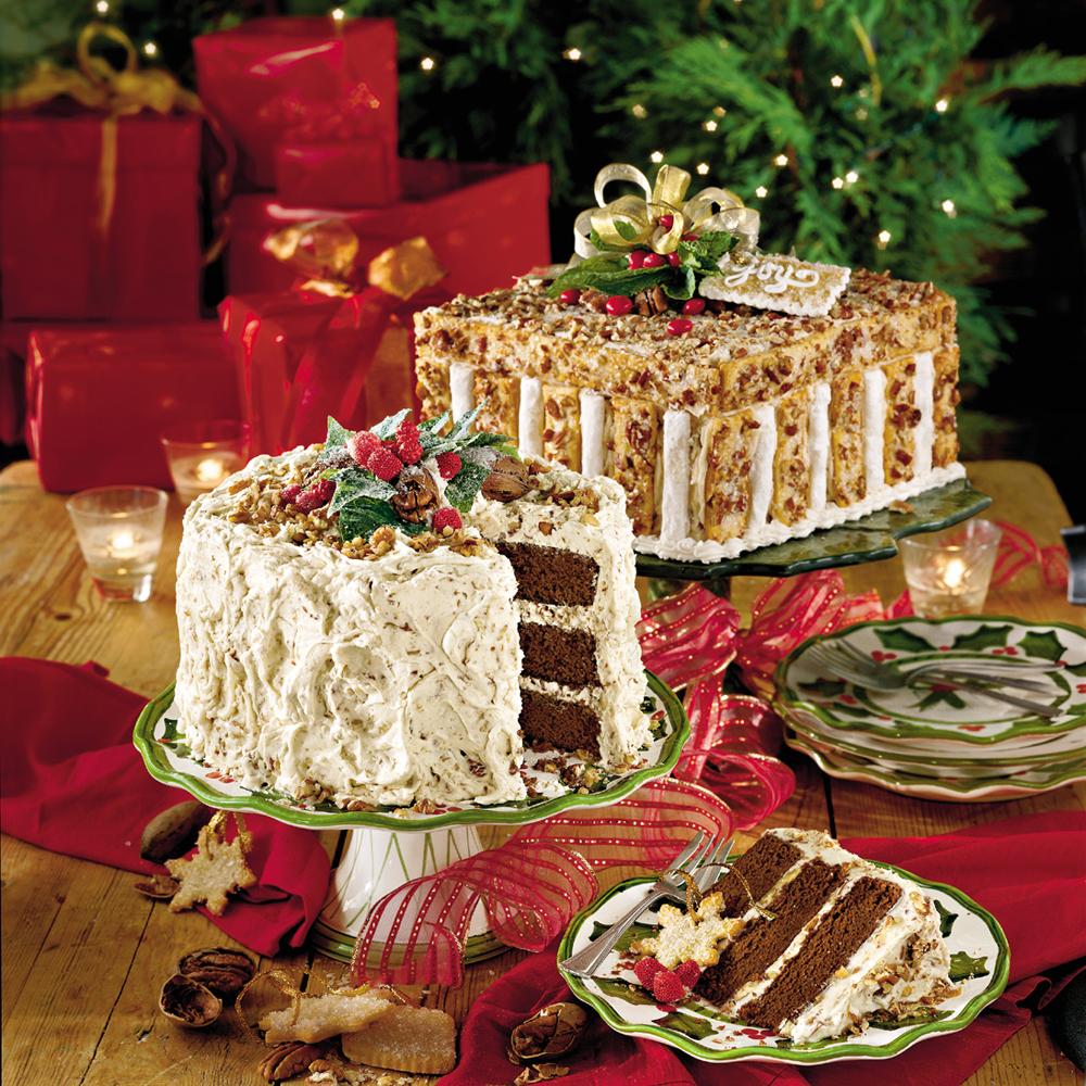 Chocolate Velvet Cake With Cream Cheese-Butter Pecan FrostingRecipe