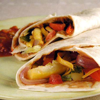 Quick Roasted-Vegetable Fajitas Recipe