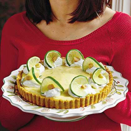 Lime-and-Macadamia Nut Tart