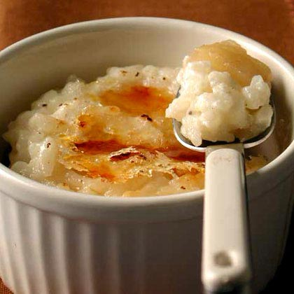 Caramelized Rice Pudding with Pears and Raisins