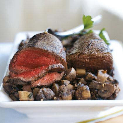 Beef Tenderloin with Parsnip-Mushroom Ragout Recipe | MyRecipes