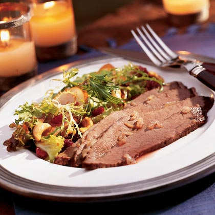 Twice-baked Beef Brisket with Onions Recipe