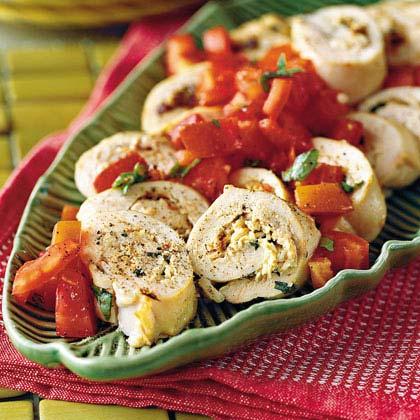 Creamy Tomato-Stuffed ChickenRecipe