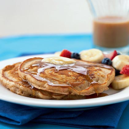 Whole Wheat Buttermilk Pancakes Recipe | MyRecipes