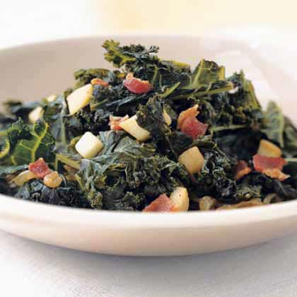 Braised Kale with Bacon and CiderRecipe