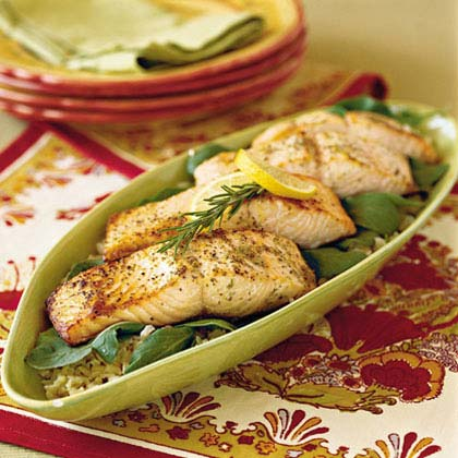 Broiled Salmon with Lemon and Olive Oil