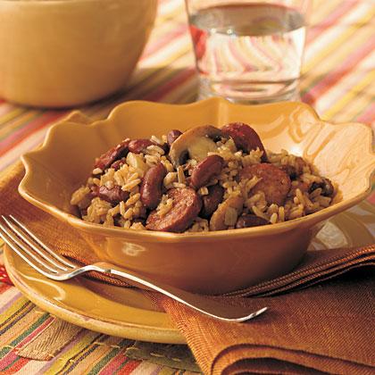 Cajun Sausage and Rice Skillet