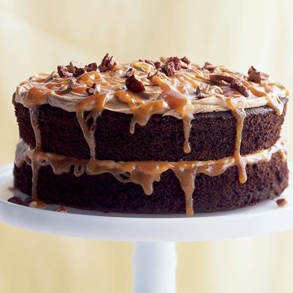 Double-Caramel Turtle Cake Recipe