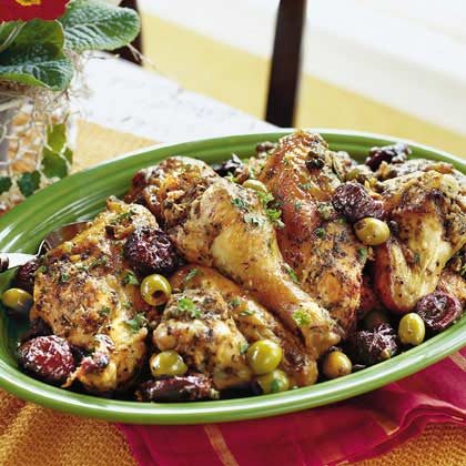 Chicken marbella calls for an unusal mix of ingredients - like plums ...