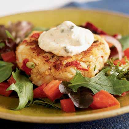 Crab Cakes with Remoulade Recipe | MyRecipes.com