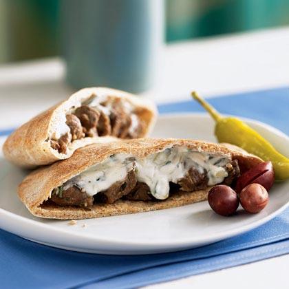 Garlic-Rosemary Lamb Pita