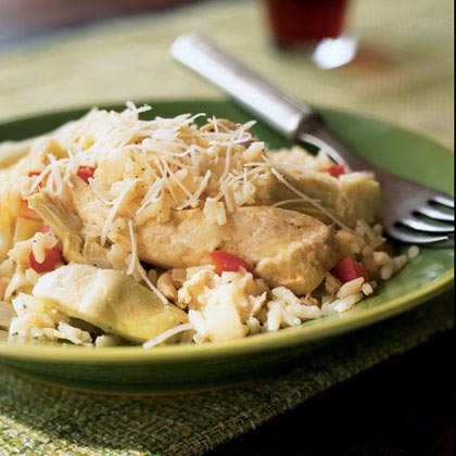 Lemon Chicken and Rice with Artichokes Recipe