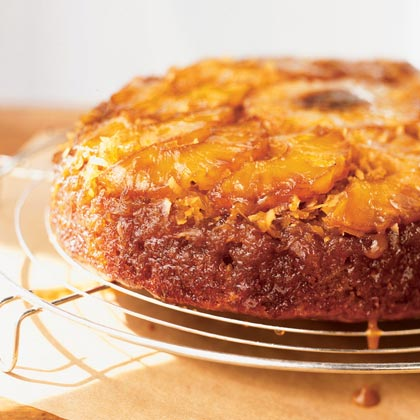Pineapple-Coconut-Banana Upside-Down Cake