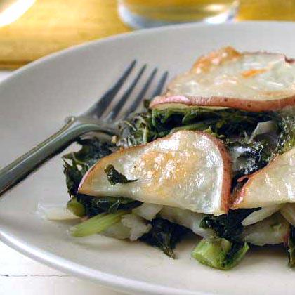 Winter Greens and Potato Casserole Recipe