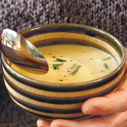 Cream of Squash and Leek Soup