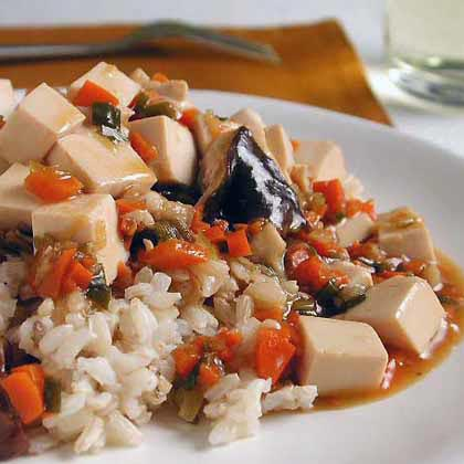 Tofu and Mushrooms