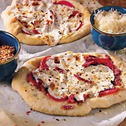 Fresh Mozzarella and Basil Pizza