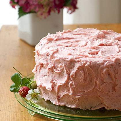 Triple-Decker Strawberry Cake