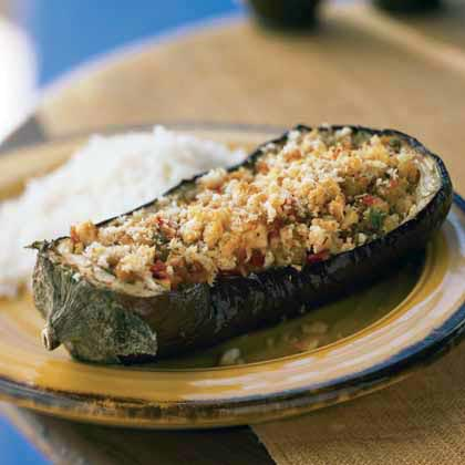 Baked Eggplant with Savory Cheese Stuffing Recipe MyRecipes