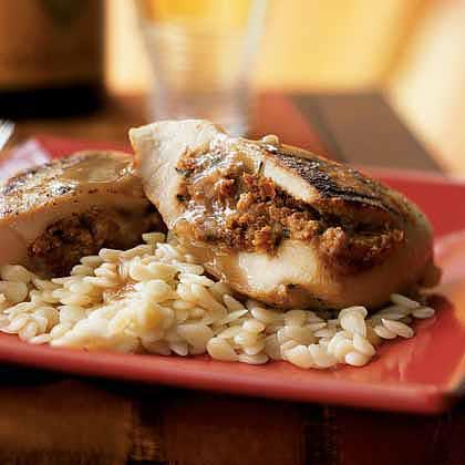 Chicken Breasts Stuffed & Goat Cheese & Sun-Dried Tomatoes Recipe ...