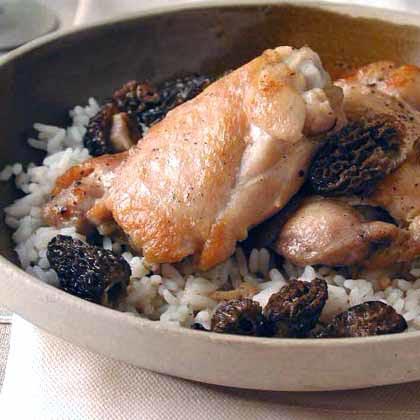 Pollo con Jugo de Morillas (Chicken with Morels)
